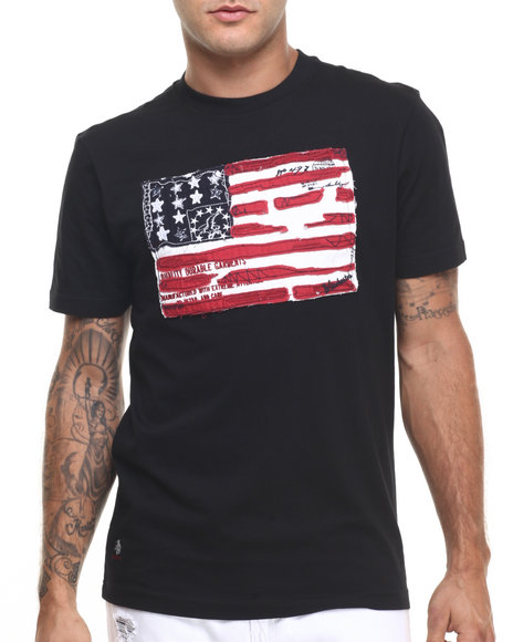 Ur-ID 224419 Winchester - Men Black Powell Flag T-Shirt