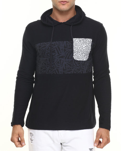Ur-ID 224424 Buyers Picks - Men Black Studio Hoodie