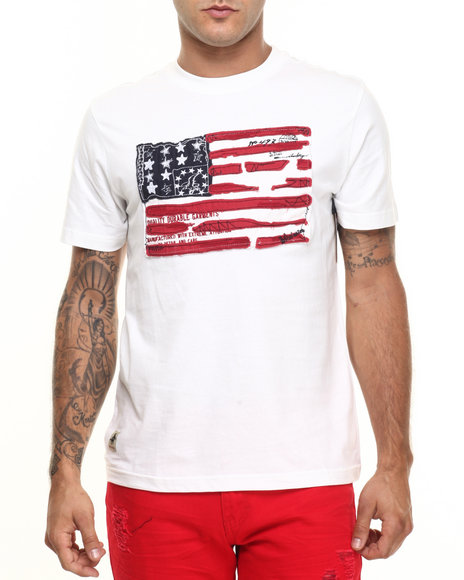 Ur-ID 224426 Winchester - Men Off White Powell Flag T-Shirt