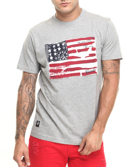 Ur-ID 224428 Winchester - Men Grey Powell Flag T-Shirt