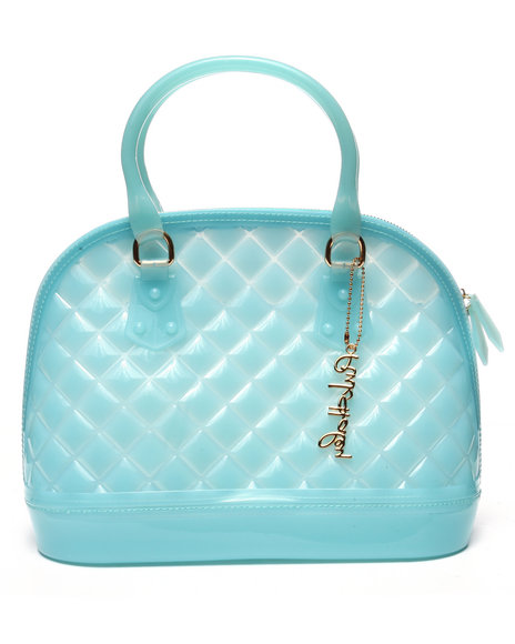 Pink Cosmo Women Pink Haley Jelly Candy Satchel Blue