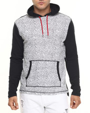 Buyers Picks - Crackle Print Slub Jersey Hoodie