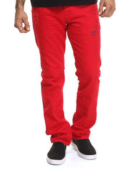 Ur-ID 224354 Winchester - Men Red Connecticut Skinny Twill Pants