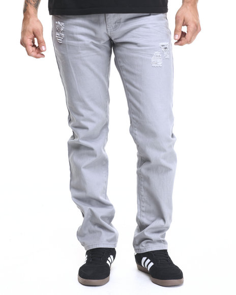 Ur-ID 224352 Winchester - Men Grey Connecticut Skinny Twill Pants