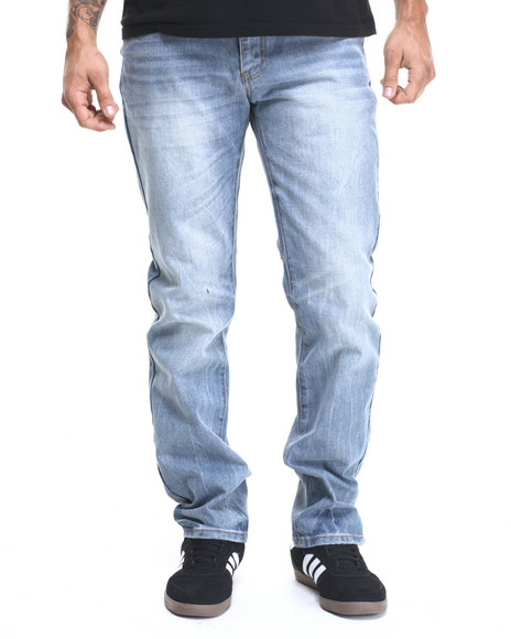 Ur-ID 224356 Winchester - Men Light Wash Kentucky Washed Denim Jeans