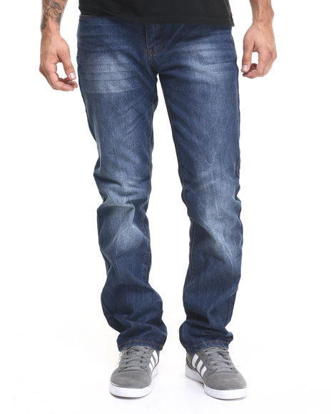 Ur-ID 224358 Winchester - Men Dark Wash Kentucky Washed Denim Jeans