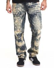 Basic Essentials - Aggressive Acid Wash Denim Jeans