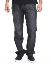Basic Essentials - Charcoal Mercerized Belted Denim Jeans