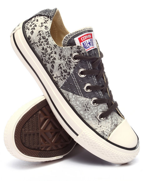 Converse - Women Grey Denim Bandana Print Chuck Taylor All Star Multi Panel Ox Sneakers