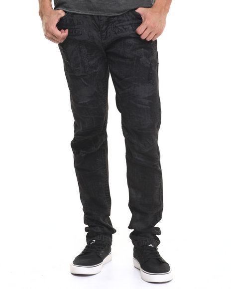 Ur-ID 224366 Buyers Picks - Men Black Waxed Twill Pants