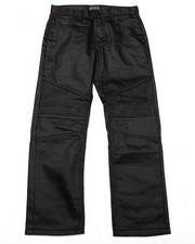 Sizes 8-20 - Big Kids - COATED MOTO JEANS (8-20)
