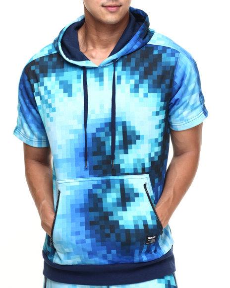 Trukfit - Men Blue Truk Digi Tye Dye S/S Hoody - $19.99