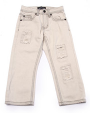 Bottoms - DISTRESSED BLEACH WASH JEANS (4-7)