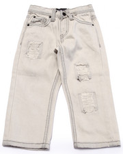 Bottoms - DISTRESSED BLEACH WASH JEANS (2T-4T)
