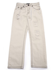Sizes 8-20 - Big Kids - DISTRESSED BLEACH WASH JEANS (8-20)