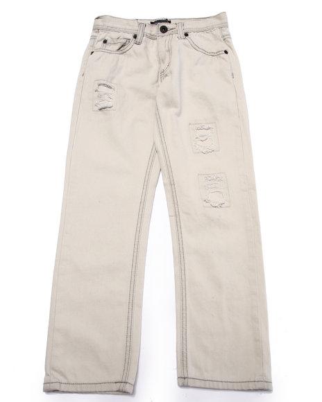 Parish - Boys Grey Distressed Bleach Wash Jeans (8-20)