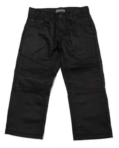 Parish - Boys Black Coated Moto Jeans (4-7)