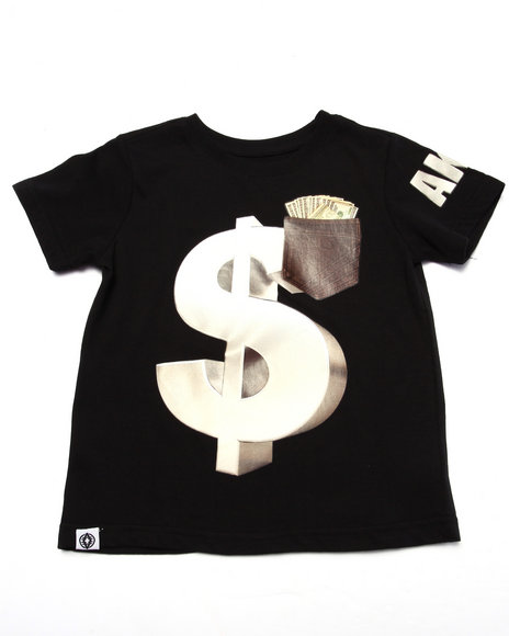 Akademiks - Boys Black Money Tee (4-7)