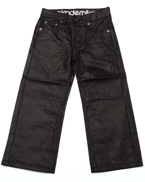 Akademiks - Boys Black Coated Denim Jeans (4-7)