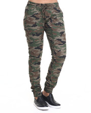 Women - Drop Crotch Camo Twill Jogger