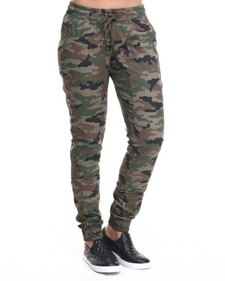 Ur-ID 224342 SOHO BABE - Women Camo Drop Crotch Camo Twill Jogger