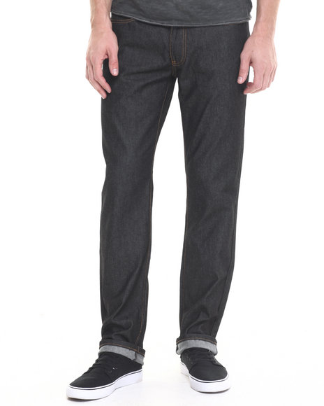 Ur-ID 224359 Winchester - Men Black Louisiana Raw Denim Jeans