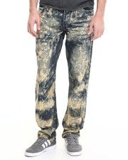 Jeans - Aggressive Acid Wash Denim Jeans