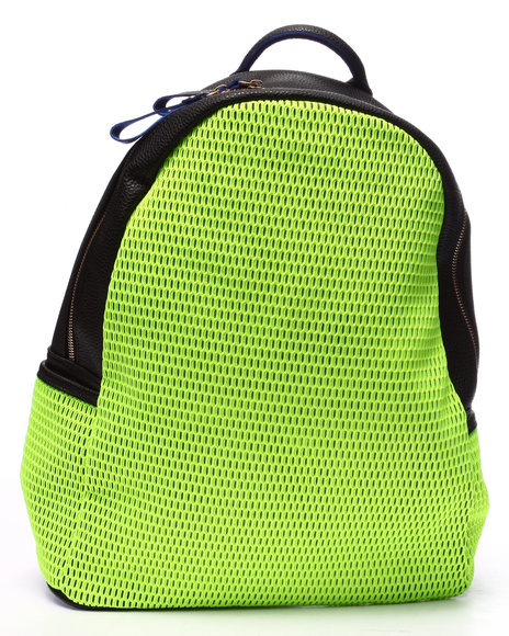 Pink Cosmo Women Pink Cosmo Neon Mesh Backpack Yellow