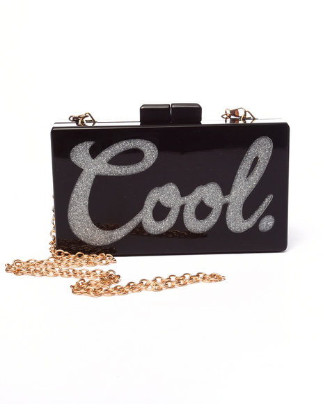Pink Cosmo Women Pink Haley Cool Box Clutch Black