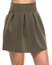 Women - Tori Solid Scuba Skirt