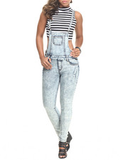 Basic Essentials - Denim Skinny Strap Overall