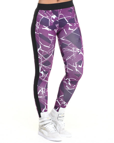 Puma - Women Purple Printed Leggings