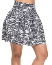 Women - Cee Cee High Waisted Printed Cupcake Skirt