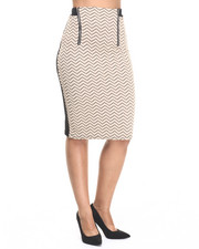 Fashion Lab - Taupe Ville Midi Skirt
