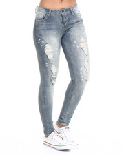 Bottoms - Paint Splatter Destructed Jean