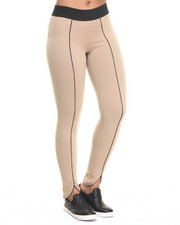 Women - Shanna Vegan Leather Piping Legging