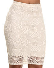 Bottoms - Crochet Midi Skirt