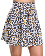 Bottoms - Tori Printed Scuba Skirt