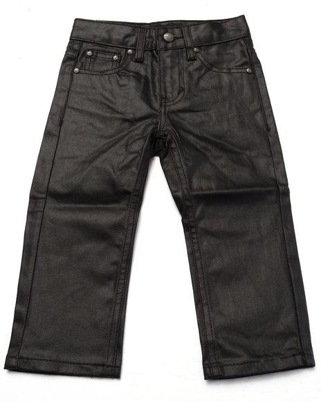 Akademiks - Boys Black Coated Denim Jeans (2T-4T)