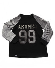 Boys - L/S PLAID RAGLAN (2T-4T)