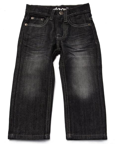 Akademiks - Boys Black Fanback Jeans (2T-4T)