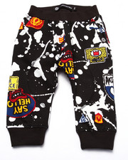 Bottoms - SPLATTER & PATCH JOGGERS (INFANT)