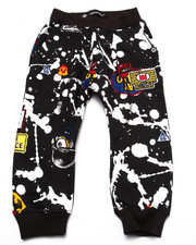 Bottoms - SPLATTER & PATCH JOGGERS (2T-4T)