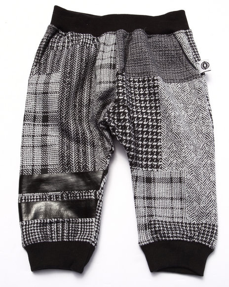 Akademiks - Boys Black Plaid Joggers (Infant)