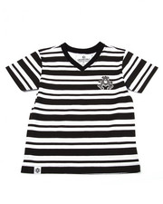 Boys - STRIPED V-NECK TEE (2T-4T)