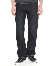 Basic Essentials - Charcoal Mercerized Belted Denim Jeans