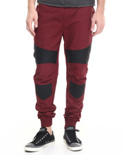 Fall Shop - Men - Waxed Color - Block Biker - Style Joggers