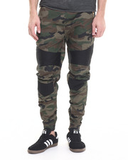 Jeans & Pants - Waxed Color - Block Biker - Style Joggers