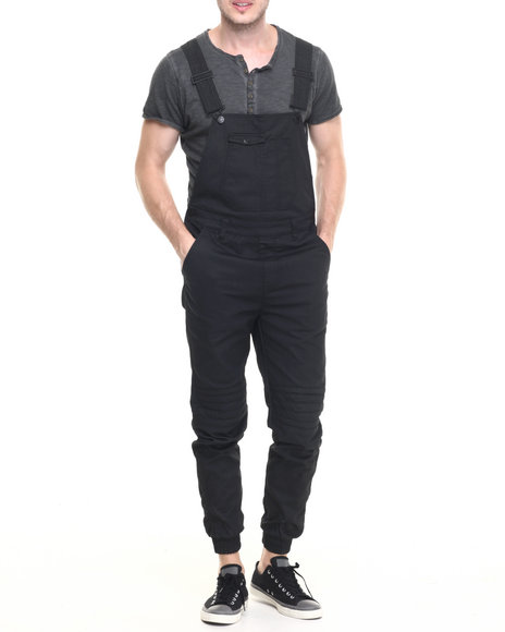 Buyers Picks - Men Black Waxed Twill Overalls