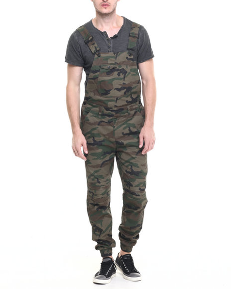 Buyers Picks - Men Camo Waxed Twill Overalls